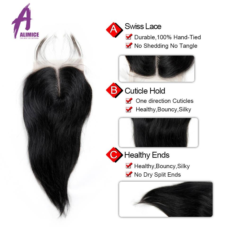 Brazilian Straight Hair 3Bundles Weaves Human Hair Weft Bundles With Closures With Bundles Non Remy Hair Extensions Alimice Hair (7)