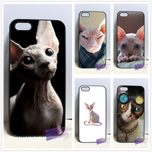 sphynx cat kitty  3 fashion cell phone case cover for iphone 4 4s 5 5s 5c SE 6 6s plus 7 plus #M2199