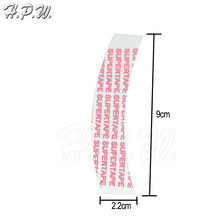 H.P.W. wholesale 1200pcs 30-40 days SUPERTAPE#1 double sided adhesive tape for lace wig and PU hair extensions attaching