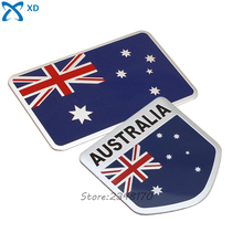Aluminum Alloy Badge Car Sticker Emblem For Australia Australian Flag Logo Decal For Chevrolet Honda Infiniti Jaguar Alfa Romeo