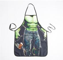 FREE SHIPPING funny hulk aprons for bar party men's sexy naked kitchen apron(China)