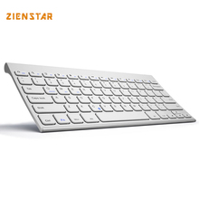 Zienstar High Quality Ultra Slim Wireless Keyboard Bluetooth 3.0 for ipad/Iphone/Macbook/PC computer/Android tablet(China)
