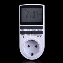 EU Plug in 7 Day 12/24h AC Digital LCD Programmable Timer Switch Socket 2016 New