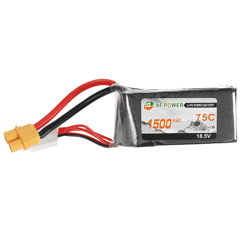 2017 Newest XF Power 18.5V 1500mah 75C 5S Lipo Battery SY60 Plug for RC Models Racing Drone Quadcopter Spare Parts Accessories<br>