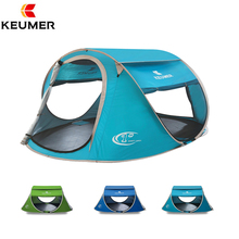 KEUMER Beach Tent Pop Up Open Large Automatic Instant Setup Easy Foldable Shelter 240 * 180 * 100cm with anti-UV Coating Camping(China)