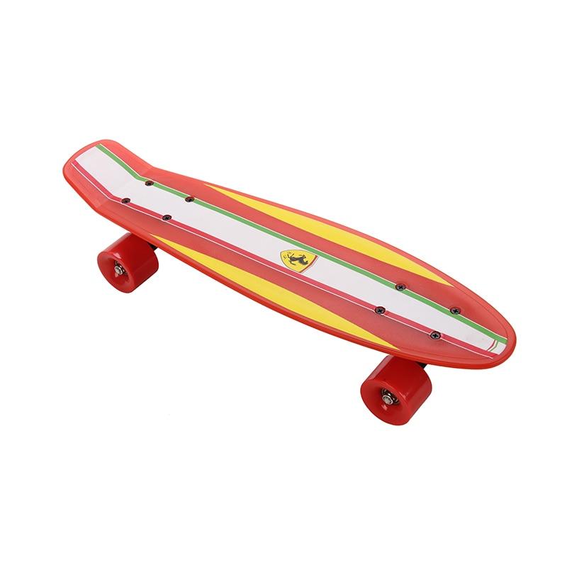 Fish Skateboard Skateboarding Four-wheel Street Banana Long Mini Cruiser Fish Skate Board for Children (6)