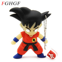 FGHGF memory stick Dragon ball Goku pen drive 32gb usb flash drive cartoon pendrive 4gb 8gb 16gb USB 2.0 usb stick usb creativo