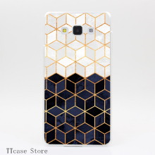 4042CA White and Navy Cubes Transparent Hard Cover font b Case b font for Galaxy A3