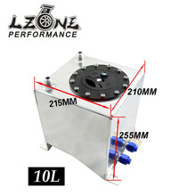 LZONE RACING- Fuel surge tank Mirror polish high quality Fuel cell 10L without sensor JR-TK13