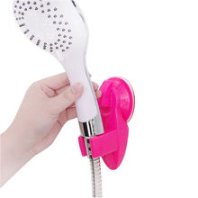 OnnPnnQ Candy Color Suction Cup Bracket Shower Head Holder Wall Mount Plastic Bathroom