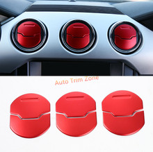 9*Metal Matted/Blue/Red Inner Front Center Air Vent Cover Trim for Ford Mustang 2015-2017(China)