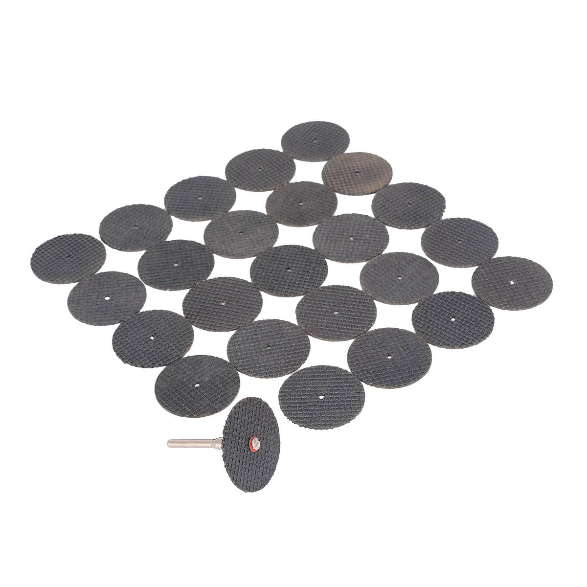 25pcs Abrasive Resin Cutting Wheel 32mm Cut-off Discs Set with Mandrel 37mm x 2mm Mayitr For Rotary Tools