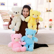 Dropshipping Free Shipping 45cm/70cm LED Teddy Bear Night Glowing Colorful Bear Stuffed Animal Toys Christmas Birthday Gifts(China)