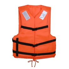 Orange Prevention Flood Adult Foam Swimming Life Vest With Reflective Strap Whistle Ring Swim Snorkeling Dive Suit Equipment