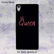 popular Luxury queen pink Pattern hard White skin case cover for Sony Xperia z5 compact z5 premium z4 z3 z2 z1