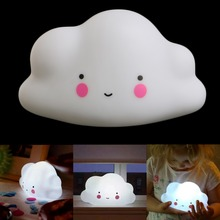Lovely Cloud Smile Face Mini Night Light Children Bedroom LED Art Deco Lamp Bulb Decor New 2017
