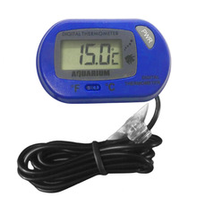 ACEHE Mini Black Aquarium Fish Tank Water Submersible Waterproof Digital LCD Thermometer Little Sensor Wired