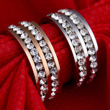 Wholesale 2pcs Jewelry Gift Women's USA Auden Double AAA explosion models high-grade titanium stainless steel ring rings