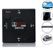 XPFNewest Best Price!! 3 Port 1080P Video HDMI Switch Switcher Splitter for HDTV 1080P PS3 SS HD DVD Free Shipping NOM12
