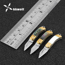 KKWOLF militar folding knife survival blade fixed mini knives rescue keychain knife camping tool hunting pocket military knife