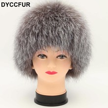 DYCCFUR Real Fox Fur Beanies Hat Women Natural Raccoon Fox Fur Ball Pompom Casual Hat Knitted Lined Beanies Women Hat Caps