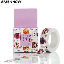 GREENHOW Masking Tape Sealing Paper Tape Boxed Cat Made Cat Language 15mm * 10m 3007(China)
