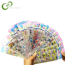 5pcs/lot 13 patterns can choose Fashion Brand Kids Toys Cartoon 3D Stickers Children girls boys PVC Stickers Bubble Stickers