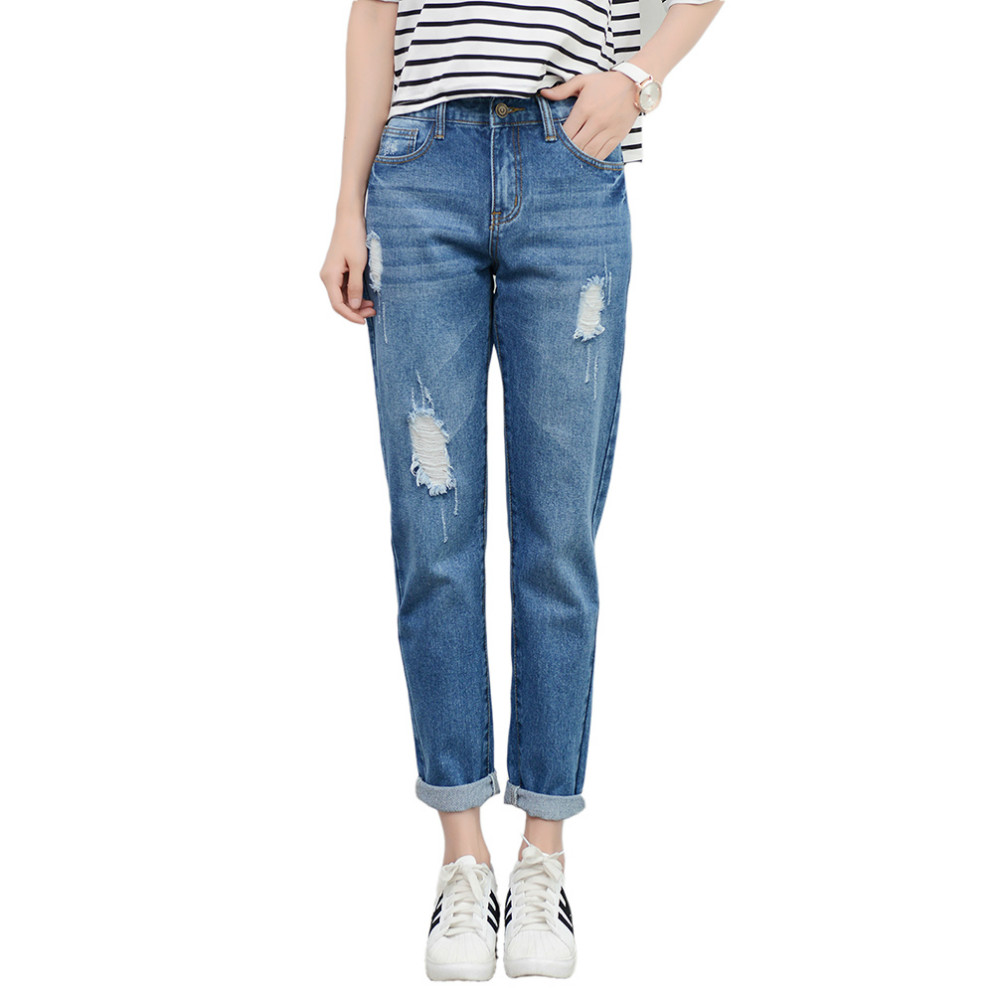 Tengo New Fashion Women Hight Waist Jeans Boyfriend Brand Female Harem Pants Women Casual Jeans Ripped Jeans for Women Plus SizeОдежда и ак�е��уары<br><br><br>Aliexpress