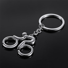 KISS WIFE 2016 Hot sale Men key ring key chain Silver bicycle keychain for car metal key chains(China)