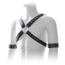Buy Leather Harnesses Men Muscle Slave Bondage Male Reveal Chest Strap Body Restraint Sadist Uniform Erotic Flirt Fetish Man Gay
