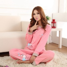 2016 Autumn Women pijama pyjamas woman Knitted Casual Girls pajamas Home Clothing set feminino Undewear mujer M L XL XXL XXXL