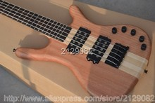Warw LTD Corvette 5 strings natural wooden electric bass Top quality free shipping