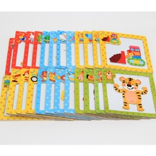 6Pcs/Lot Magnetic Wooden Puzzles Toys Tiger/Bear/Frog Cartoon Animals Puzzles Tangram Child Educational Gift(China)