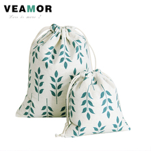 3pcs/set Beam Port Drawstring Cotton Cloth Green Wheat Pattern Gift Candy Bags Storage Bags Soft Small Gift  Bags B121