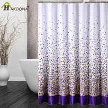 HAKOONA Sporadic Block Bathroom Shower Curtain with 12 Pastic Hook gFift  Polyester Waterproof  Shower Drape