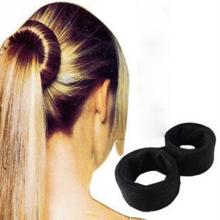 Hair Accessories Simple Hair Bun Updo Fold Wrap & Snap Styling Tool headband Magic DIY Hair Wrap Tool Black
