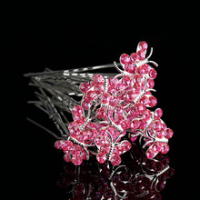 Wholesale 20 Pcs Crystal Rhinestone Butterfly Hair Pin Clips Women Wedding Bridal Hair Jewelry Accessories Free Shipping