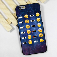 Fit for iPhone 4 4s 5 5s 5c se 6 6s 7 plus ipod touch 4 5 6 back skins phone case cover Emoji Face battery Space funky smiley
