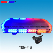 TBD-2L5 Led mini lightbar, Police /car Red/ Blue warning light/Heavy magnetic base LED light/DC12V/24V Flashing warning light/