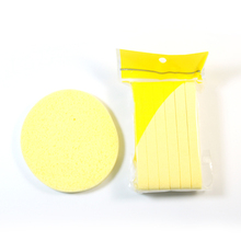 12pcs/set Beautiful yellow color soft makeup sponge Magic Face Cleaning Wash Pad Puff Seaweed Cosmetic Puff Cleansing for face(China)