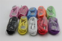 Free shipping!!Best hotsale very cheapest 3.5mm high quality colorful  earphone with mic for iphone 3/4/5/4s/5s/6s