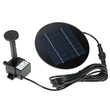 Solar Water Pump Solar Panel Solar Powered Fountain Submersible Brushless Water Pump Kit for Bird Bath Pond Pull Garden