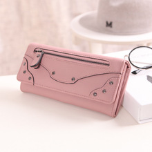 Wallets for women Purses Long PU leather card holders(China)