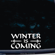 "Design1 Winter is Coming 7"" die cut vinyl Sticker decal for windows car trucks tool boxes laptop MacBook NOT PRINTED!"