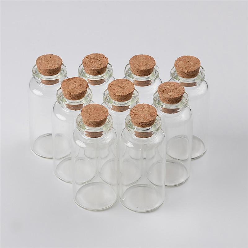20ml Glass Bottles With Cork Small Transparent Mini Empty Glass Vials Jars