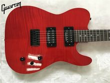 Electric guitar/2017 new Gwarem luck star tele guitar/maple flame top red color/guitar in china(China)