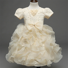 Baby Girl Pageant Wedding Dresses Infant Princess Little Girls 3 4 5 6 7 8 Years Birthday Party Dress Christening Gowns XD30-A(China)