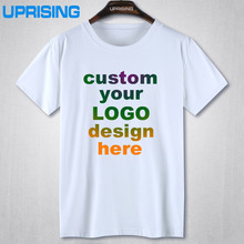Custom Printed Personalized T-Shirts designer logo mens t shirt 2016 Advertising brand new white tshirt short-sleeve blank tees