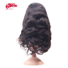 "Ali Queen Body Wave Lace Front Human Hair Wigs With Baby Hair Pre Plucked Hairline 10""-24"" Natural Color Brazilian Remy Hair Wig(China)"
