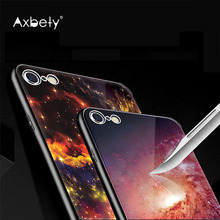 Fashion Meteor Case For iPhone 6s 6 Case Starry Sky Star Tempered Glass Cover For iPhone6 6s Plus Universe Mirror Phone Cases(China)